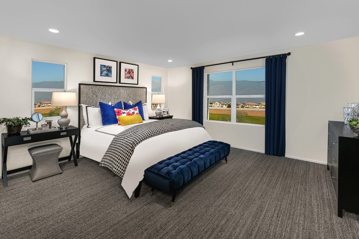 New Homes in North Fontana, CA - The Towns at El Paseo Residence Four - Master Bedroom