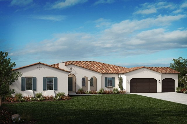 New Homes in Riverside , CA - Spanish 'A' 4-car garage