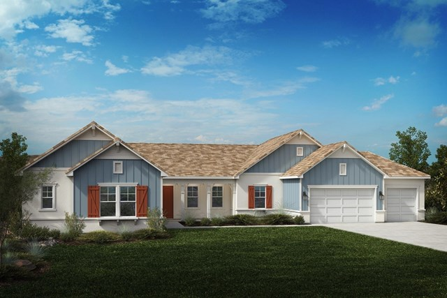 New Homes in Riverside , CA - Farmhouse 'D' 4-car garage