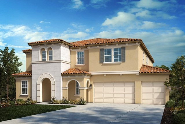 New Homes in Riverside , CA - Italianate 'B' 4-car garage