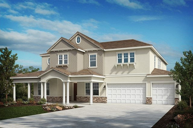 New Homes in Riverside , CA - Cape Cod 'E' 4-car garage