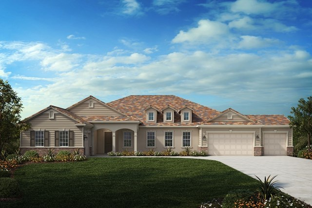 New Homes in Riverside , CA - Traditional 'C' 4-car garage