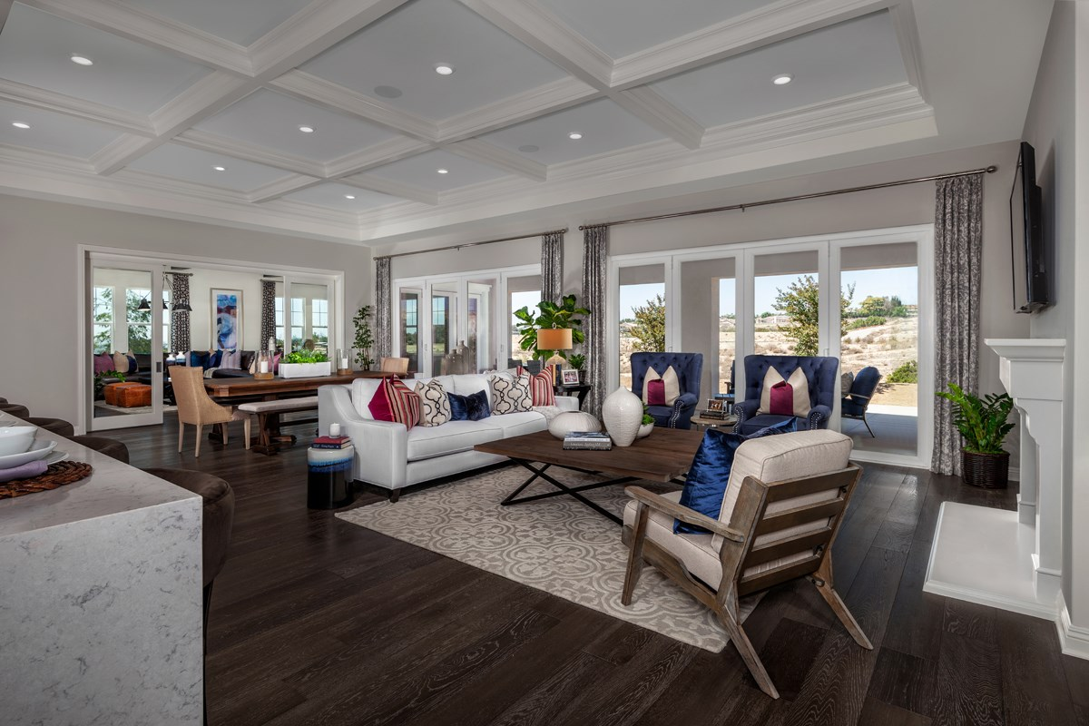 New Homes in Riverside , CA - The Trails at Mockingbird Canyon Residence 5380 - Great Room