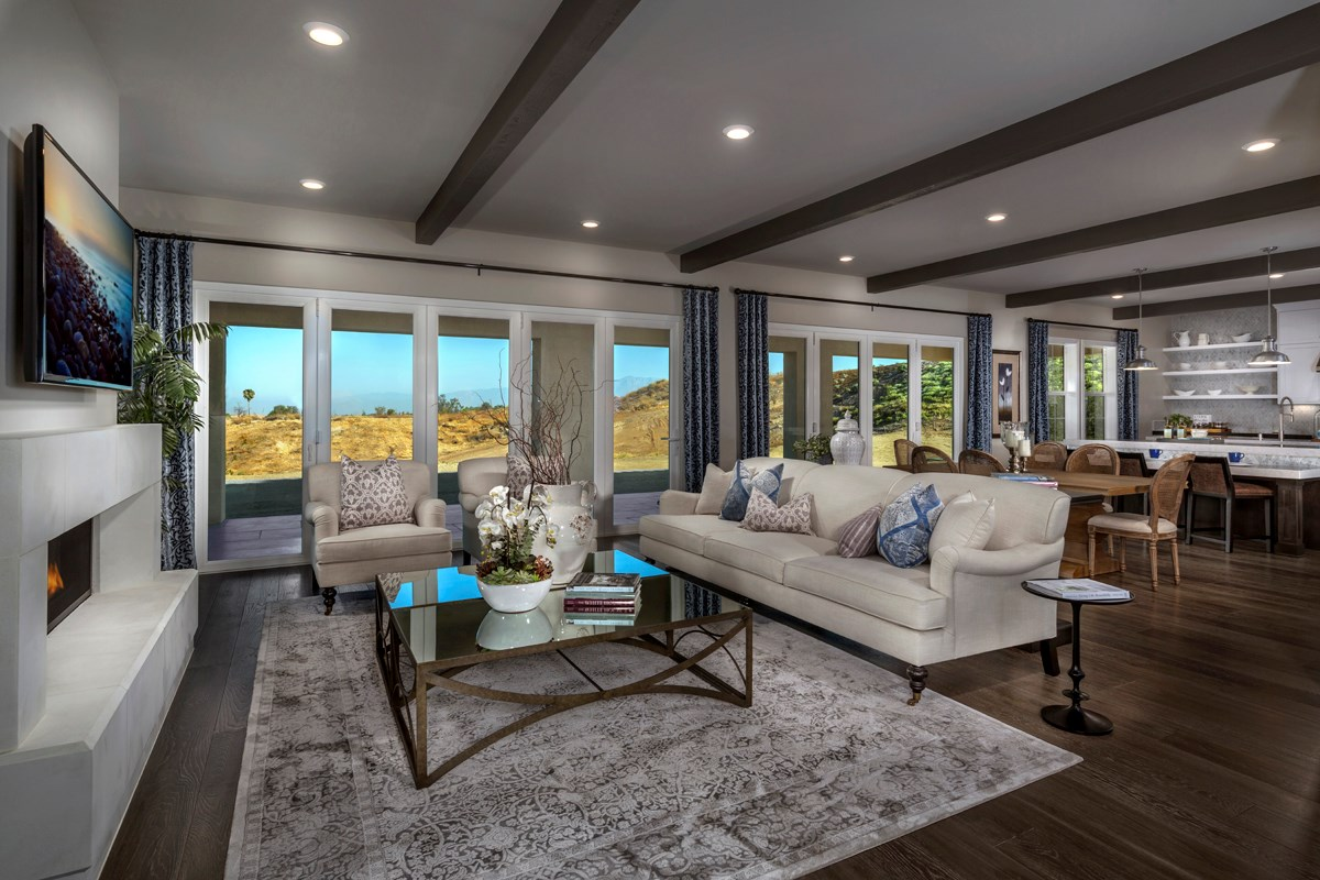 New Homes in Riverside , CA - The Trails at Mockingbird Canyon Residence 5084 - Great Room