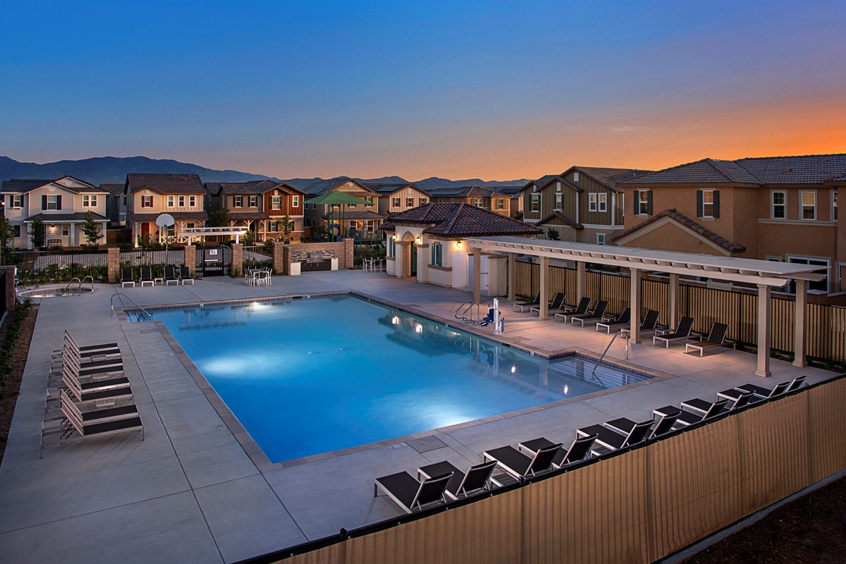 New Homes in Chino, CA - Turnleaf Community pool
