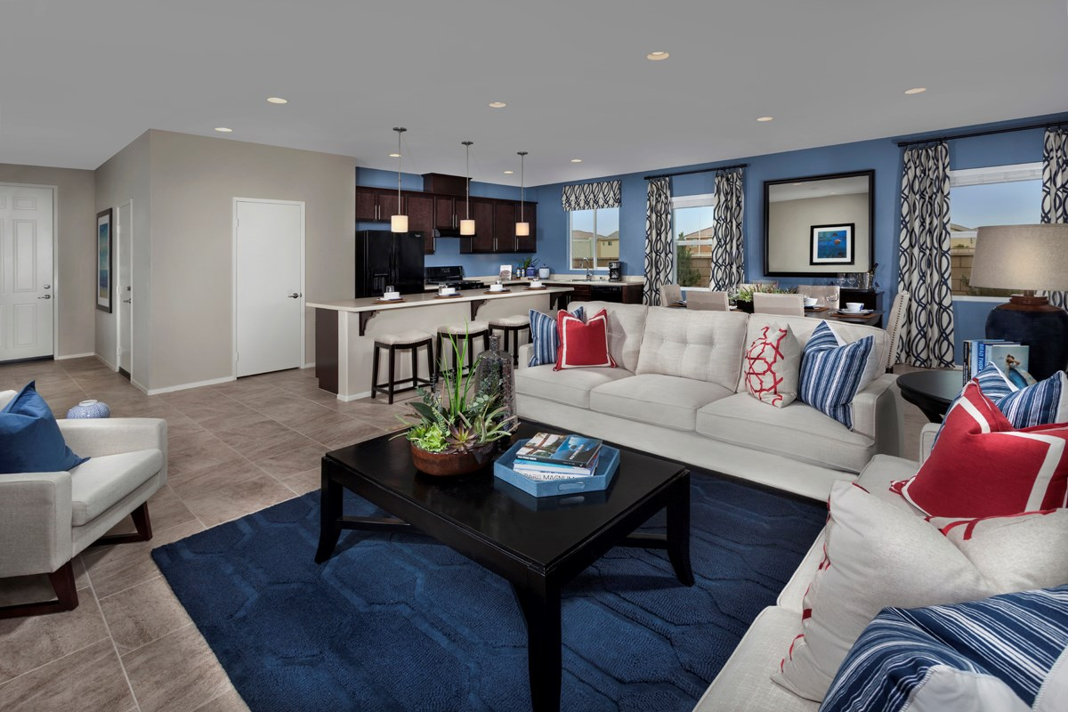 New Homes in Victorville, CA - Falcon Ridge Residence Five - Great Room