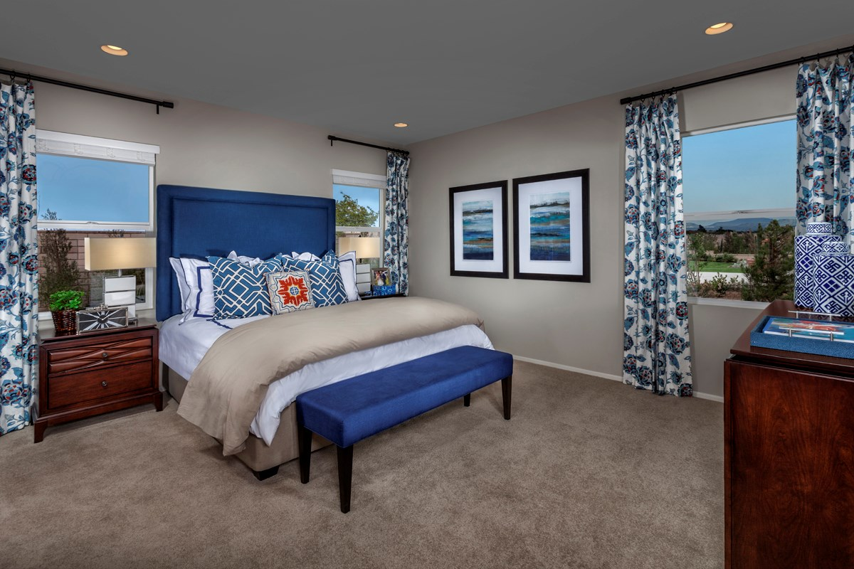 New Homes in Victorville, CA - Wildflower at Las Haciendas Residence Five - Master Bedroom