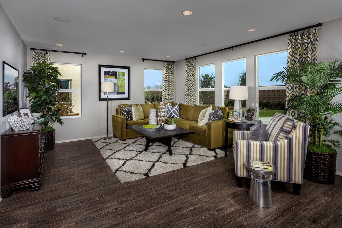 new homes in victorville ca wildflower at las haciendas residence three great room - New Homes Designs