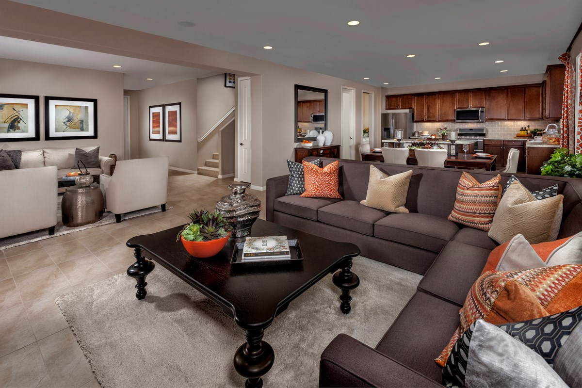 New Homes in Victorville, CA - Wildflower at Las Haciendas Residence Five - Great Room