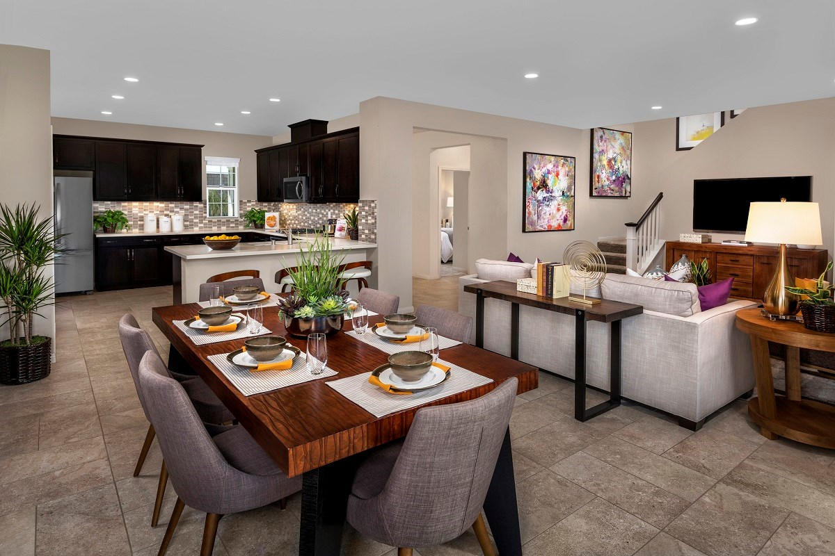 New Homes in Ontario Ranch, CA - Willowmore at Park Place Residence 2335 - Great Room