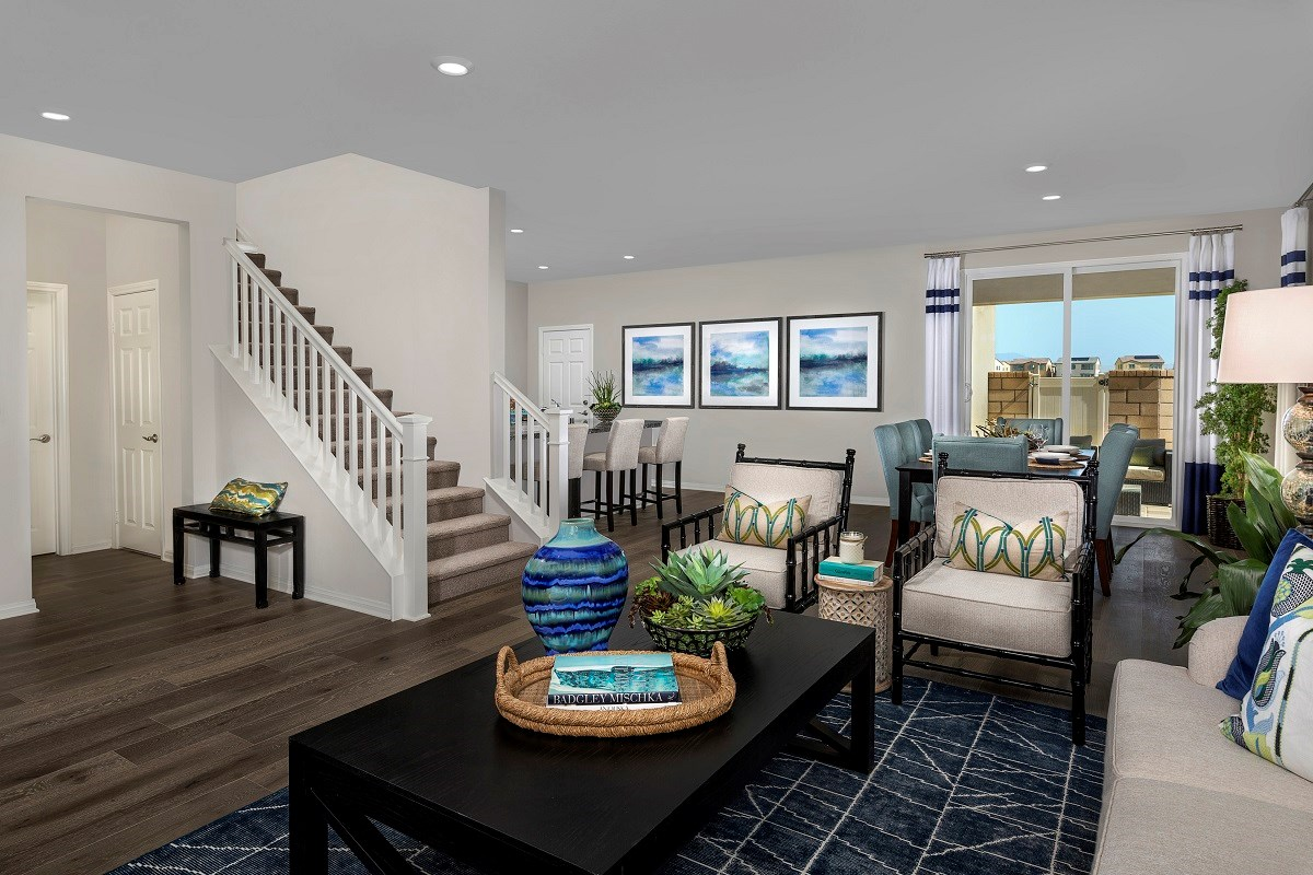 New Homes in Ontario Ranch, CA - Willowmore at Park Place Residence 2479 - Great Room