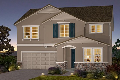 New Homes in Stockton, CA - The Brecher - French Cottage