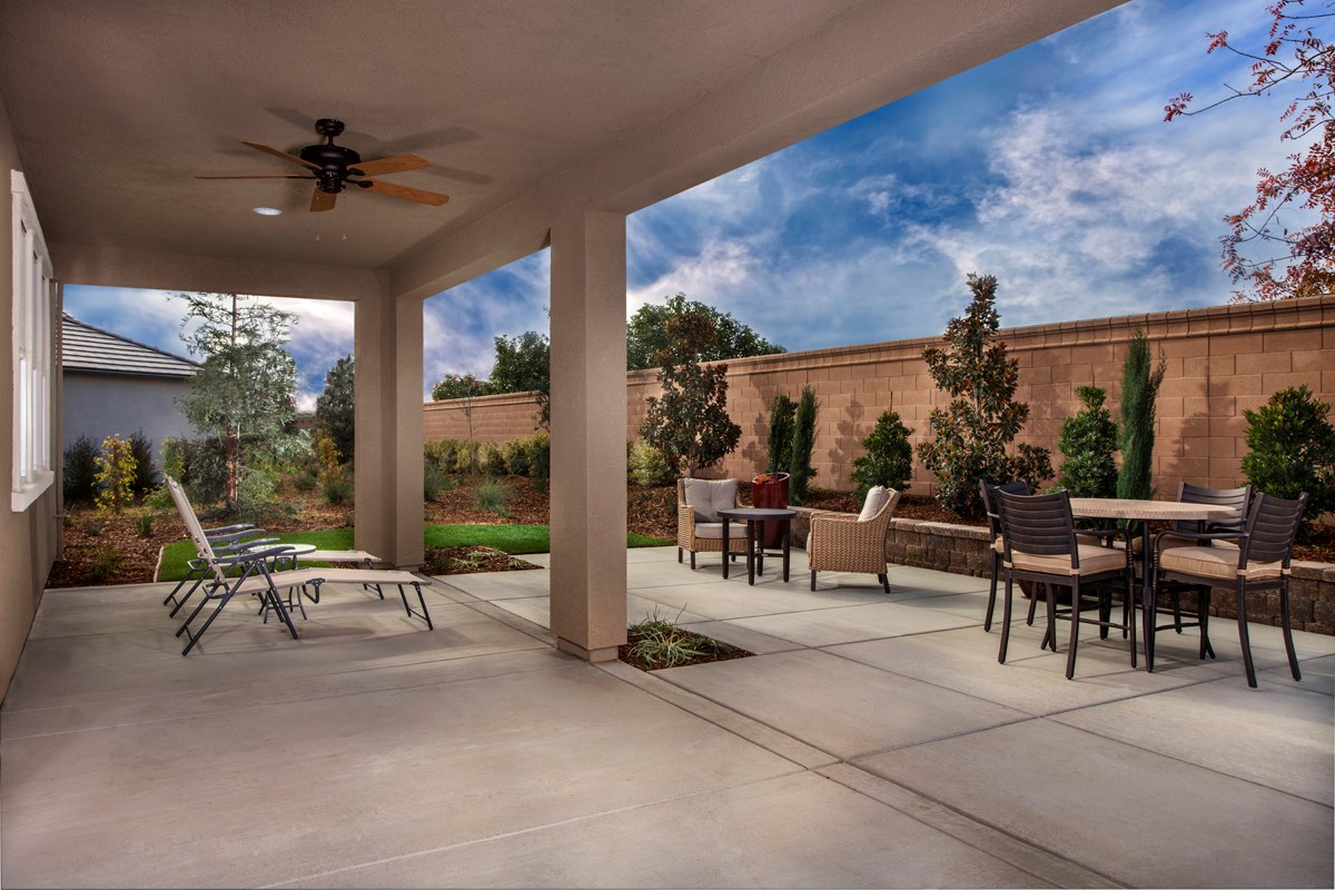 New Homes in Stockton, CA - Avalon The Derby - Rear Patio
