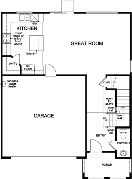 New Homes in Stockton, CA - Plan 1790, First Floor