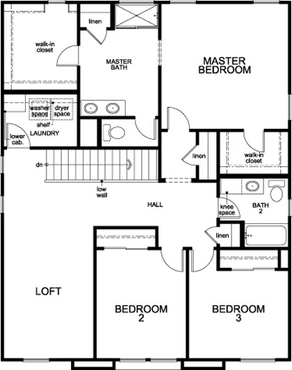 New Homes in Stockton, CA - Plan 2229 - Modeled, Second Floor