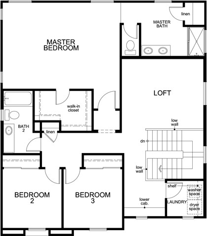 New Homes in Roseville, CA - Plan 2137, Second Floor
