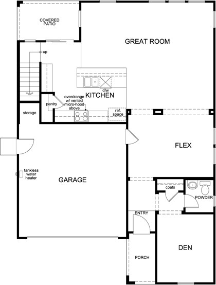 New Homes in Roseville, CA - Plan 2620, First Floor