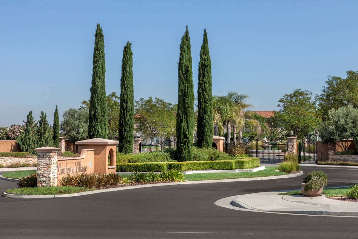 new homes in elk grove ca cypress cove at monterey village monument sign - New Homes Garden Grove