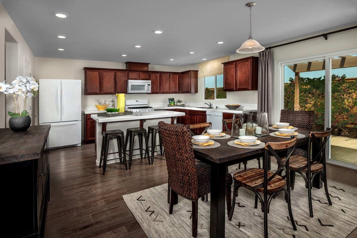 new homes design. New Homes in Elk Grove  CA Cypress Cove at Monterey Village Plan 2 Kitchen for Sale Community by KB