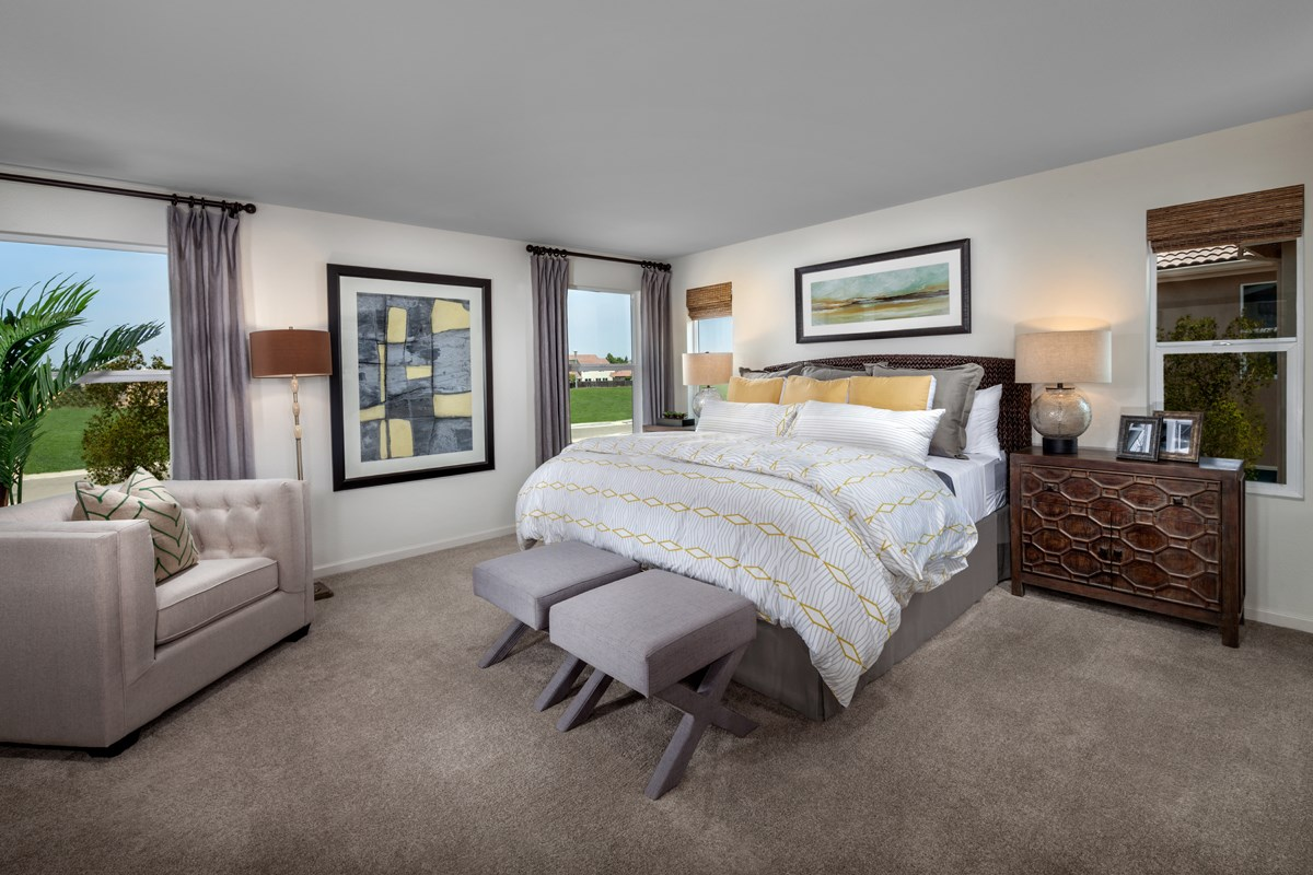 New Homes in Elk Grove, CA - Cypress Cove at Monterey Village Plan 2 Master Bedroom