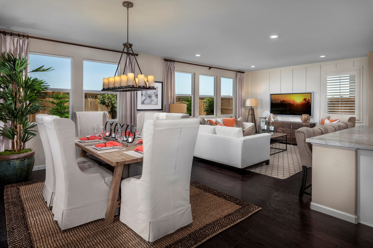New Homes in Elk Grove, CA - Cypress Cove at Monterey Village Plan 3 Great Room