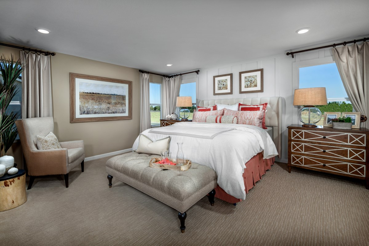 New Homes in Elk Grove, CA - Cypress Cove at Monterey Village Plan 3 Master Bedroom