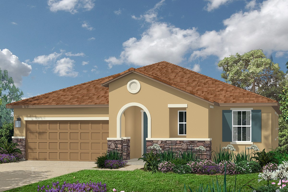 New Homes in Roseville, CA - Legato at WestPark The Marlow - Tuscan