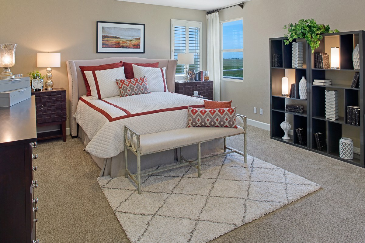 New Homes in Roseville, CA - Legato at WestPark Mullins Plan - Master Bedroom