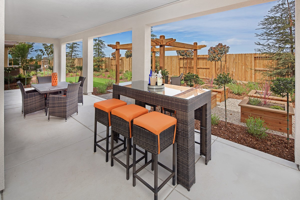 New Homes in Roseville, CA - Legato at WestPark Mullins Plan - Covered Patio