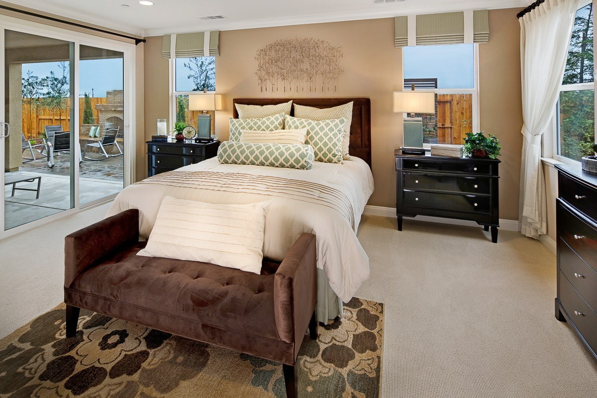 New Homes in Roseville, CA - Legato at WestPark The Oliver - Master Bedroom
