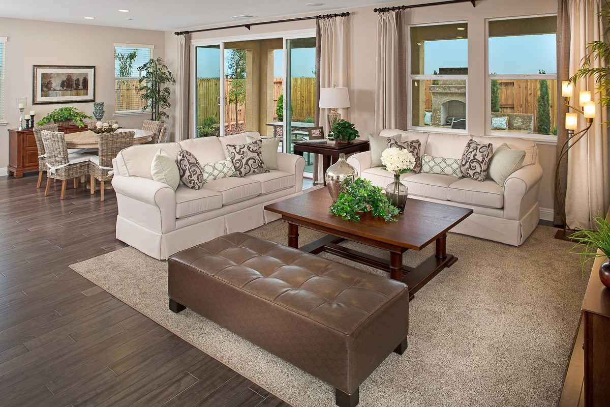 New Homes in Roseville, CA - Legato at WestPark Oliver Plan - Great Room