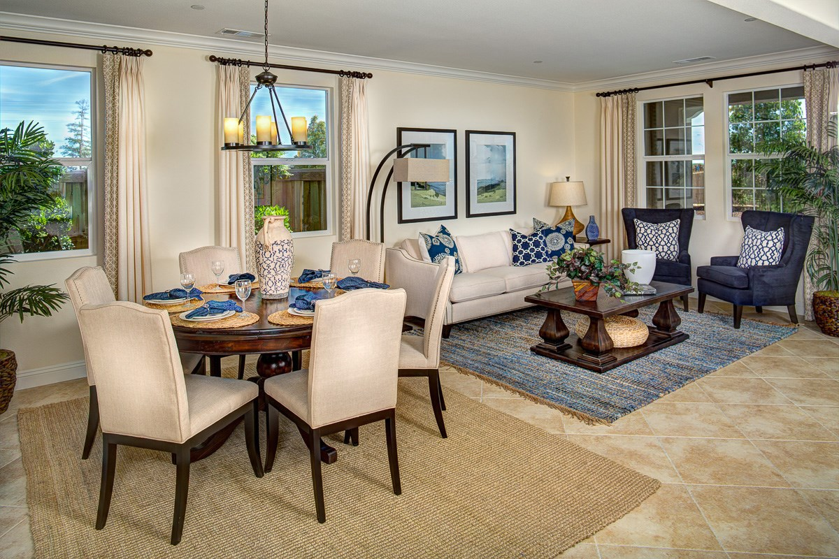 New Homes in Roseville, CA - Legato at WestPark Orlando Plan - Family Room