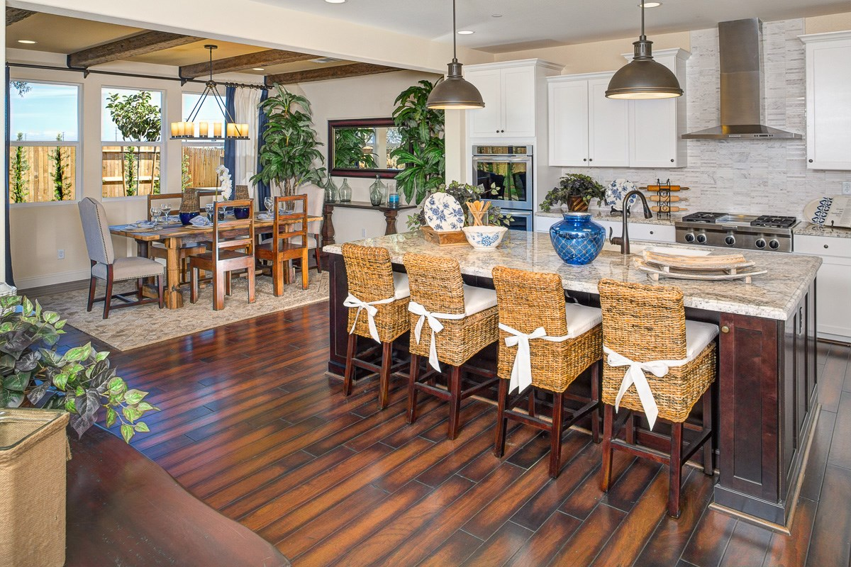 New Homes in Roseville, CA - Legato at WestPark Orlando Plan - Kitchen Dining Area