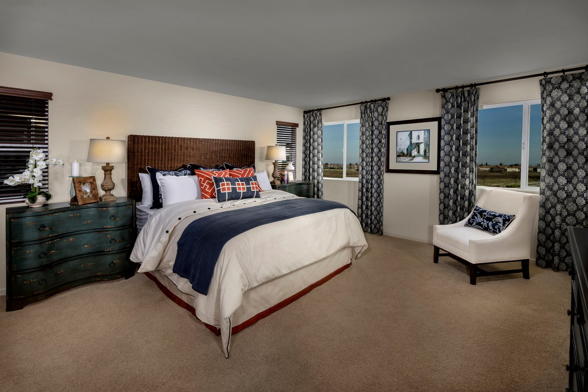 New Homes in Sacramento, CA - Montauk at The Hamptons Plan 2487 - Master Bedroom