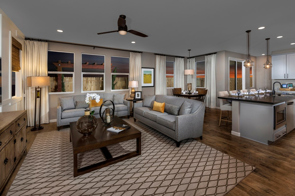 New Homes in Sacramento, CA - Montauk at The Hamptons Plan 4 - Great Room