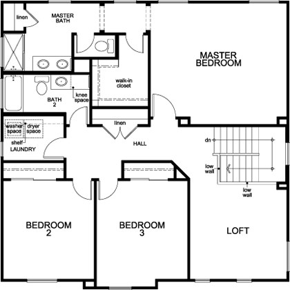 New Homes in Stockton, CA - Plan 2376, Second Floor