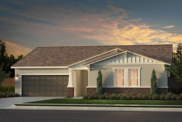 New Homes in Rocklin, CA - Plan 2105 - Craftsman Elevation