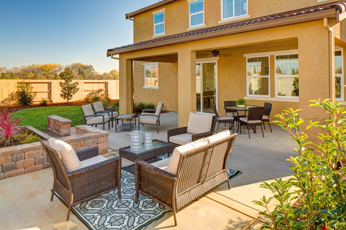 New Homes in Galt, CA - Parker Creek The Brecher - Backyard