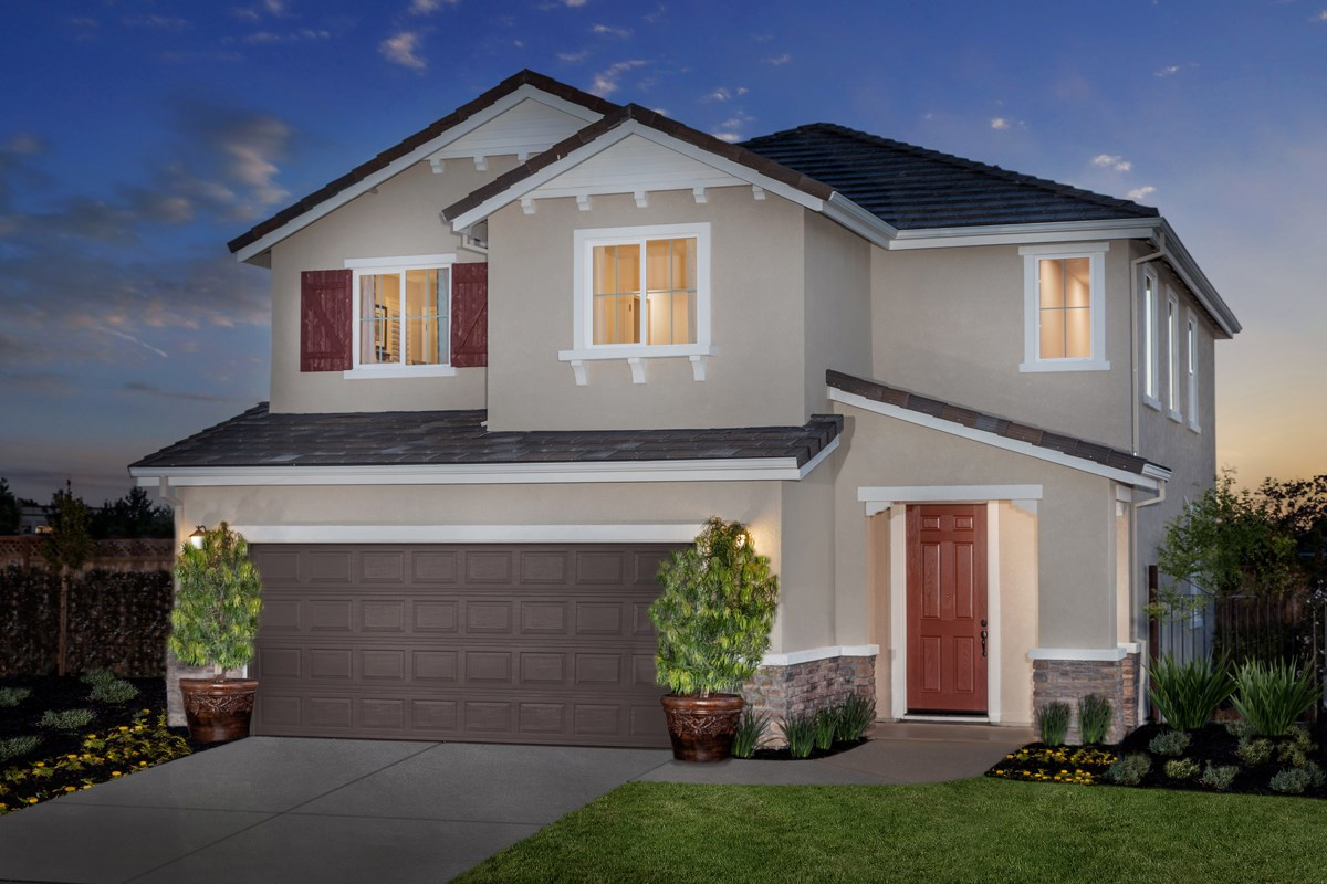 New Homes in Rocklin, CA - Pebble Creek Plan 1816 Exterior