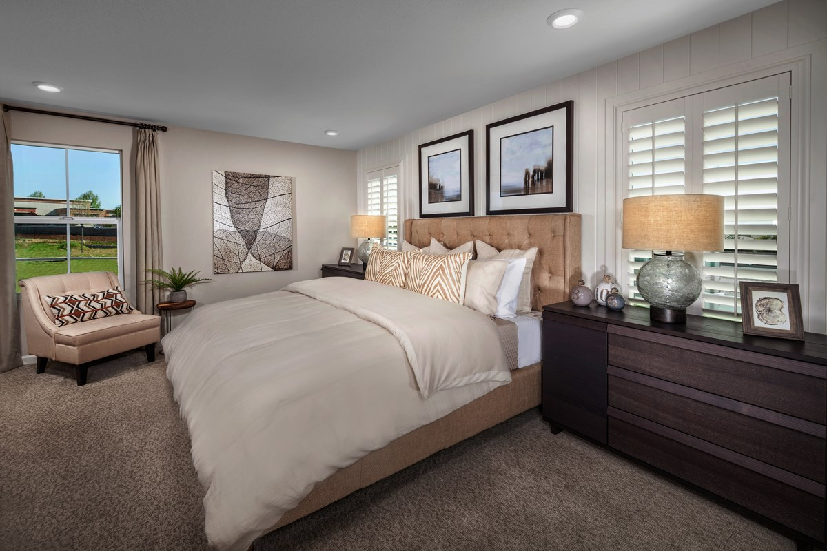 New Homes in Rocklin, CA - Pebble Creek Plan 1816 Master Bedroom
