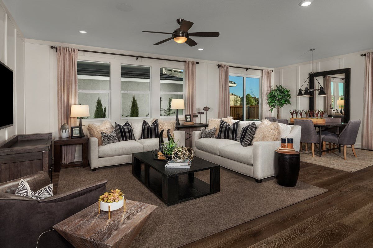 New Homes in Sacramento, CA - Trevato Plan 2413 Great Room and Dining