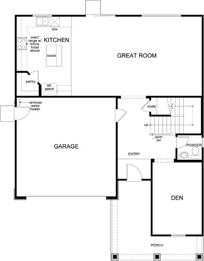 New Homes in Lincoln, CA - Plan 2376, First Floor
