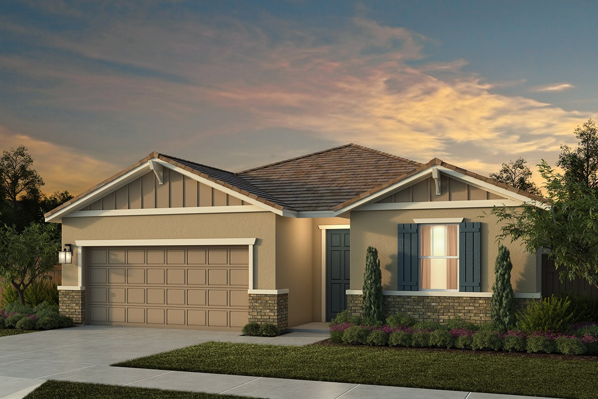 New Homes in Lincoln, CA - Ventana Plan 1718 - Craftsman Elevation (B)