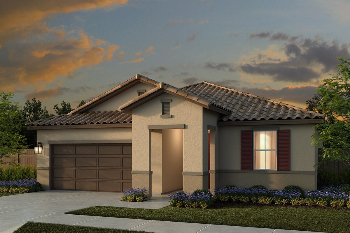 New Homes in Lincoln, CA - Ventana Plan 1718 - Tuscan Elevation (E)