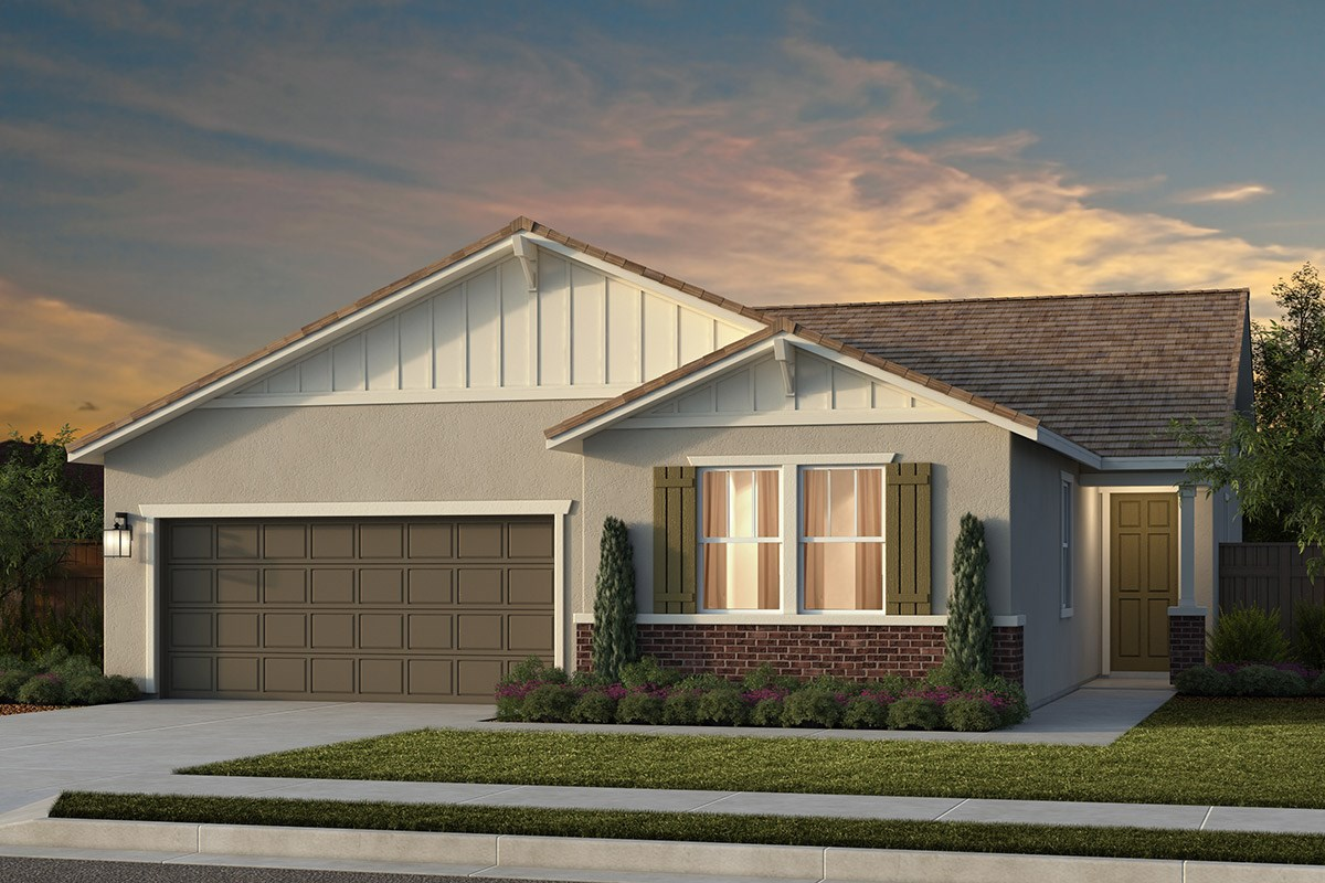 New Homes in Lincoln, CA - Ventana Plan 1979 - Craftsman Elevation (B)