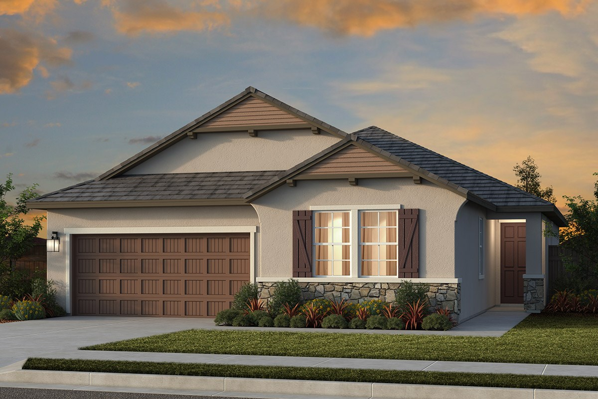 New Homes in Lincoln, CA - Ventana Plan 1979 - French Cottage Elevation (D)