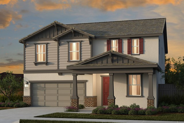 New Homes in Lincoln, CA - Plan 2376 - Craftsman Elevation