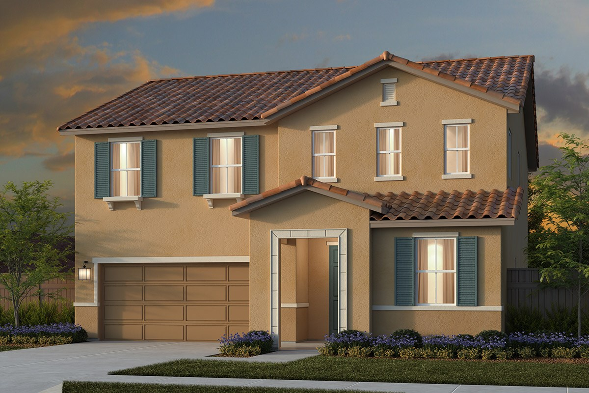 New Homes in Lincoln, CA - Ventana Plan 2376 - Tuscan Elevation (E)