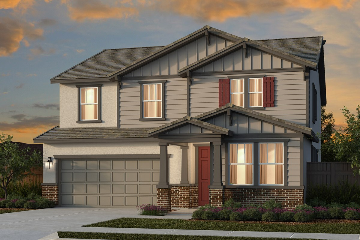 New Homes in Lincoln, CA - Ventana Plan 2674 - Craftsman Elevation (B)