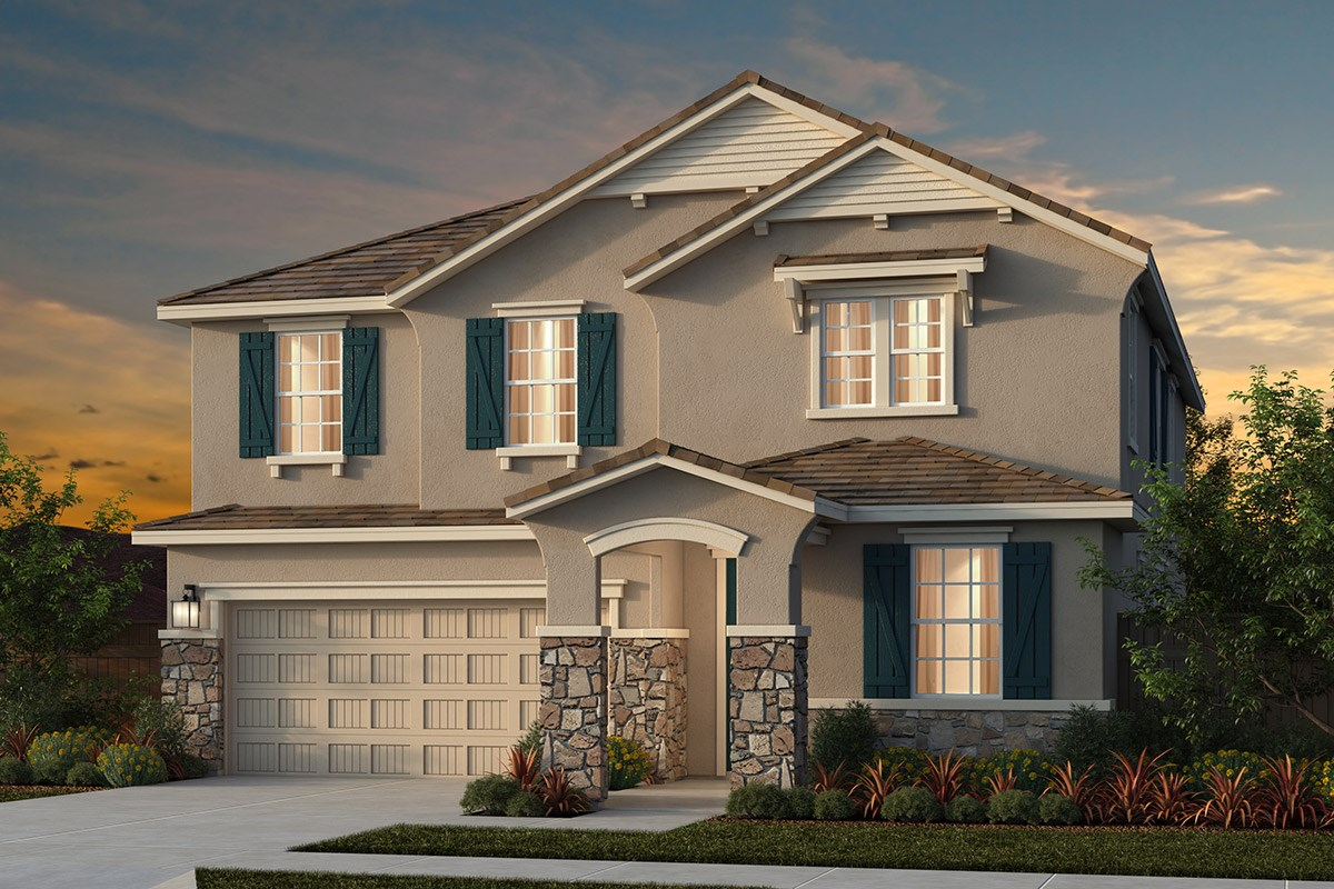 New Homes in Lincoln, CA - Ventana Plan 3061 - French Cottage Elevation (D)